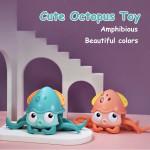 Cute Octopus Clockwork Bath Toys