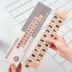 Wooden Educational Math Arithmetic Ruler
