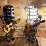 Vintage Metal Microphone Robot Desk Lamp 🔥 BUY 2 GET FREE SHIPPING 🔥
