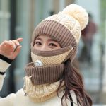 3-In-1 Beanie Scarf Mask Set™