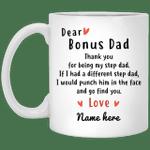 Dear Bonus Dad Personalized Mug