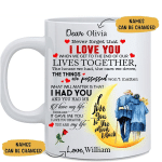 To my Wife Customized Mug - Never Forget That I Love You