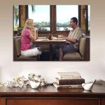 1 Panel 50 First Dates Adam Sandler And Drew Barrymore Meal Screen Wall Art Canvas