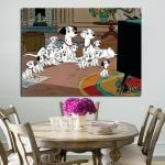 1 Panel 101 Dalmatians Purdy And Pongo And Puppies Wall Art Canvas