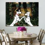 1 Panel 101 Dalmatians Love Of Pongo And Purdy Wall Art Canvas