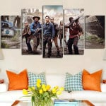 5 Panel People Surrounded Wall Art Canvas