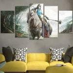 Lineage Elves And Horse Wall Art Canvas