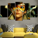 Overwatch Tracer Face Wall Art Canvas