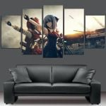 A Girl In Touhou Wall Art Canvas