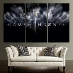 3 Panel Game Of Thrones Sword Wall Art Canvas