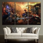 LOL Characters Sunset Wall Art Canvas