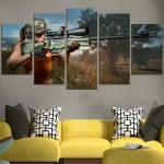 PUBG Female Character With A Sniper Rifles Wall Art Canvas