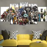 Characters Of Overwatch Wall Art Canvas
