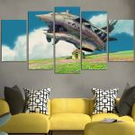 Howl's Moving Castle Military Aircraft Wall Art Canvas