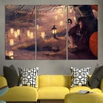 Noragami Yato And Nora Under The Tree Wall Art Canvas