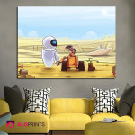 1 Panel Eve And WalláE Wall Art Canvas