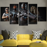 PUBG Characters With Weapons Wall Art Canvas
