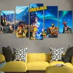 Characters In Borderlands Wall Art Canvas