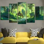 The Legend Of Zelda Link And The Forest Temple Wall Art Canvas