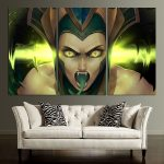 LOL Cassiopeia Montage  Wall Art Canvas