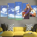 Spice And Wolf Holo Beautiful In The Meadow Wall Art Canvas