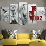 The Only Way Out Is In The Evil Within II Wall Art Canvas