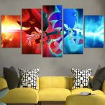 Sonic And Shadow Wall Art Canvas