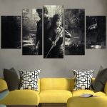 The Last of Us Ellie And Joel Fight Together Wall Art Canvas