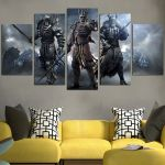 Warriors in The Witcher 3 Wall Art Canvas