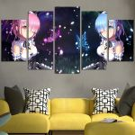 Re Zero Rem And Ram So Beautiful Wall Art Canvas