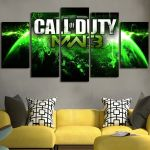 Call of Duty MW3 and Earth Wall Art Canvas