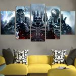 The Witcher 3 Ghost Armor Warrior Wall Art Canvas