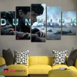 5 Panel Dunkirk Movie Poster Wall Art Canvas