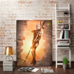 Nier Automata A2 Holding Weapon Wall Art Canvas