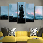 5 Panel Dunkirk Soldier Wall Art Canvas