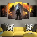 Titanfall 2 Forums And Fire Wall Art Canvas