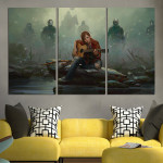 The Last of Us Ellie Plays Guitar Wall Art Canvas