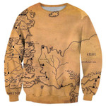 Game Of Thrones Map Printed Shirts