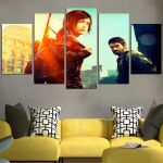 The Last Of Us Joel And Ellie Wall Art Canvas