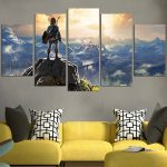 The Legend Of Zelda Breath Of The Wild Link Wall Art Canvas