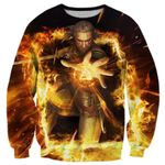 The Witcher 3 Geralt Fights In The Fire Shirts