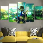 The Legend Of Zelda Link With A Bow Wall Art Canvas