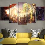 Overwatch Of Map Wall Art Canvas