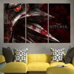 The Witcher 3 Wild Hunt Logo Wall Art Canvas