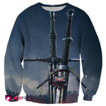 The Witcher Geralt Steel And Silver Sword Shirts