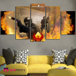 Counter Strike Global Offensive Poster Wall Art Canvas