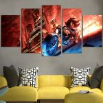 Sonic With Red Wall Art Canvas