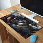 Kratos Fight In Forest Mousepad