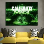 Call of Duty MW3 Background Wall Art Canvas