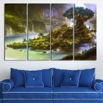 Artwork Of Payer Housing From Final Fantasy XIV Wall Art Canvas